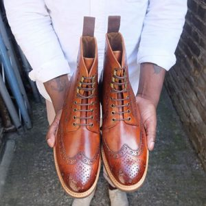 grenson brogue boot