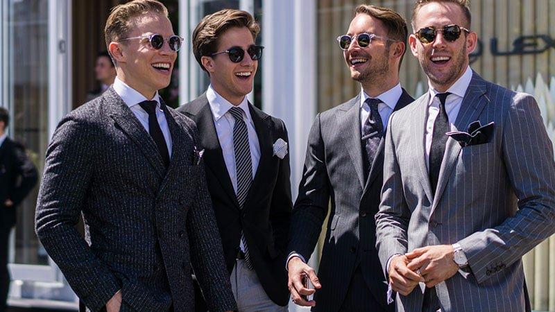 Men at the races