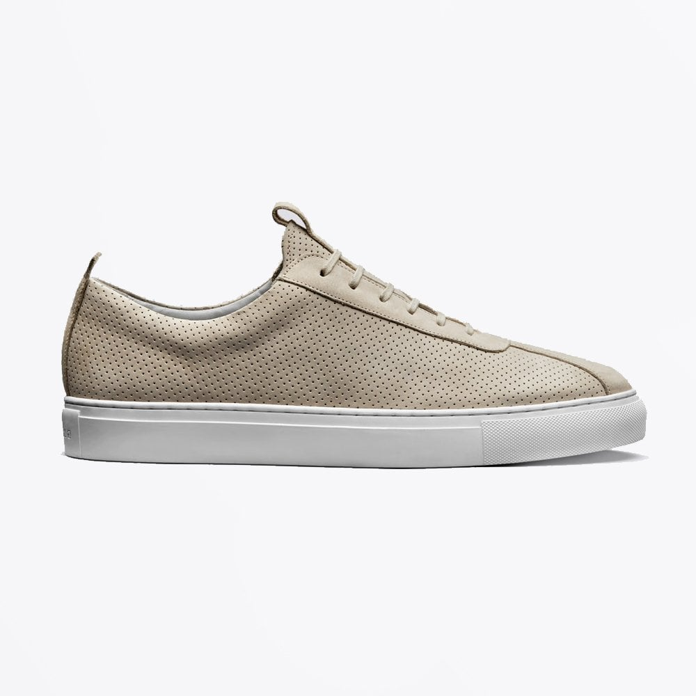 Grenson suede off white sneakers 1