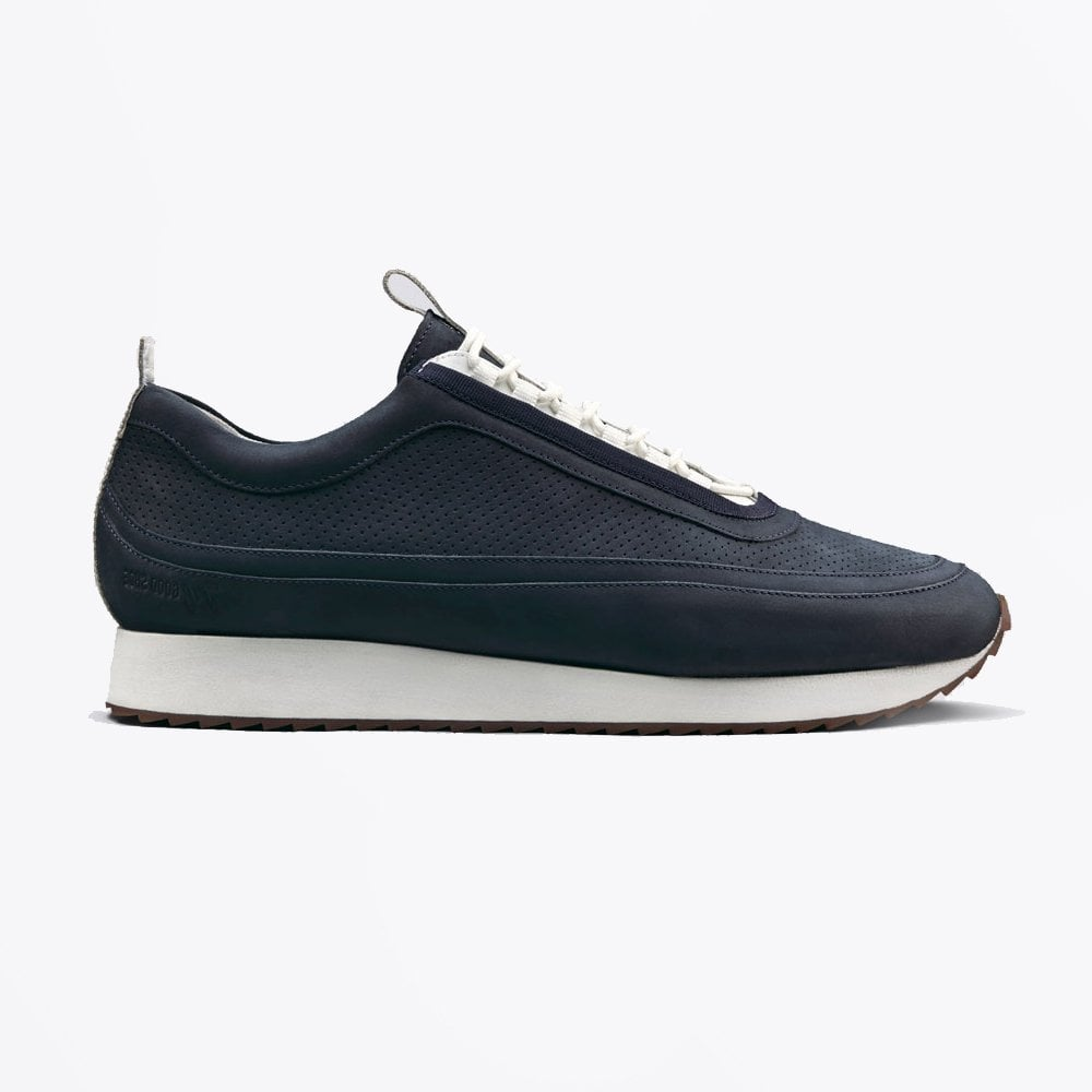 Grenson deep blue nubuck sneakers 12
