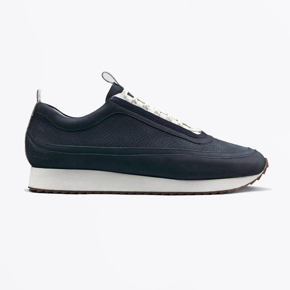Grenson deep blue nubuck sneakers 12