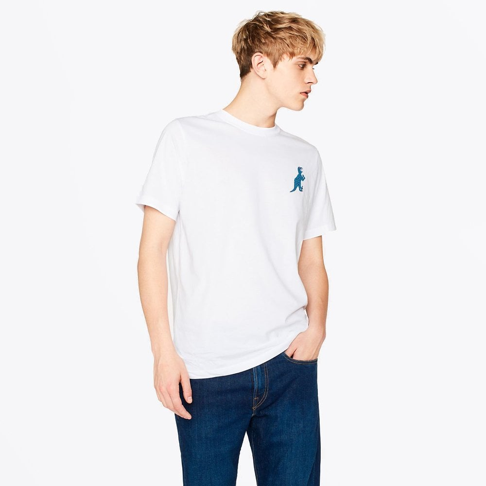 PS Paul Smith Printed-Dino T-Shirt White