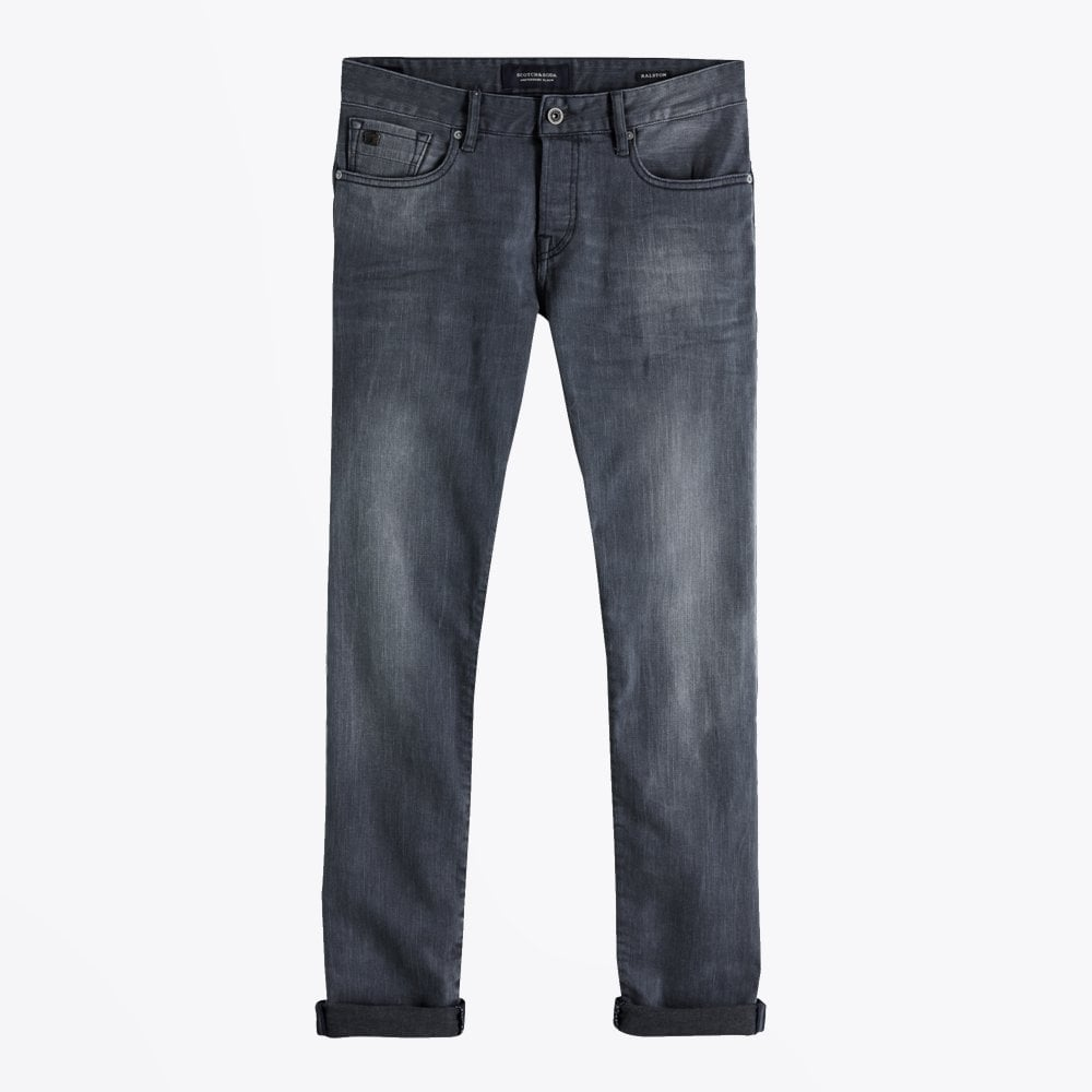 Display of Scotch & Soda regular slim fit jeans in concrete bleach