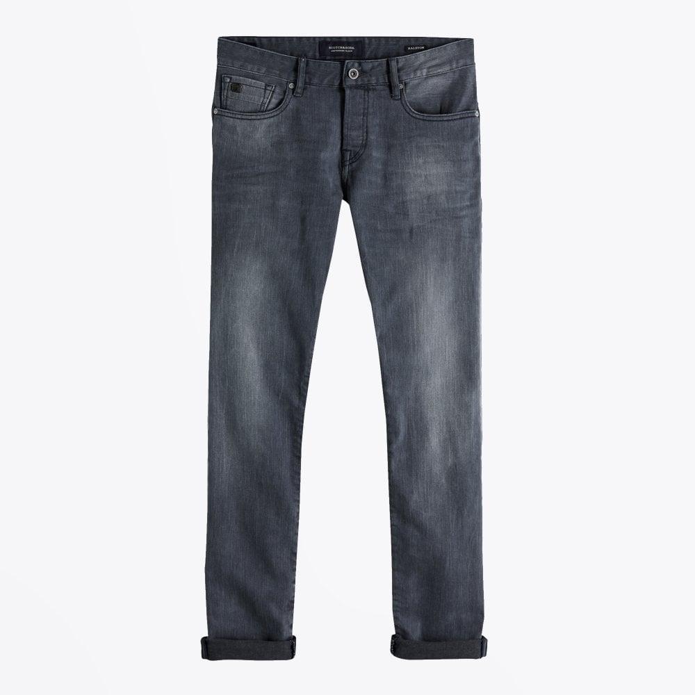 Display of Scotch & Soda regular slim fit jeans in concrete bleach